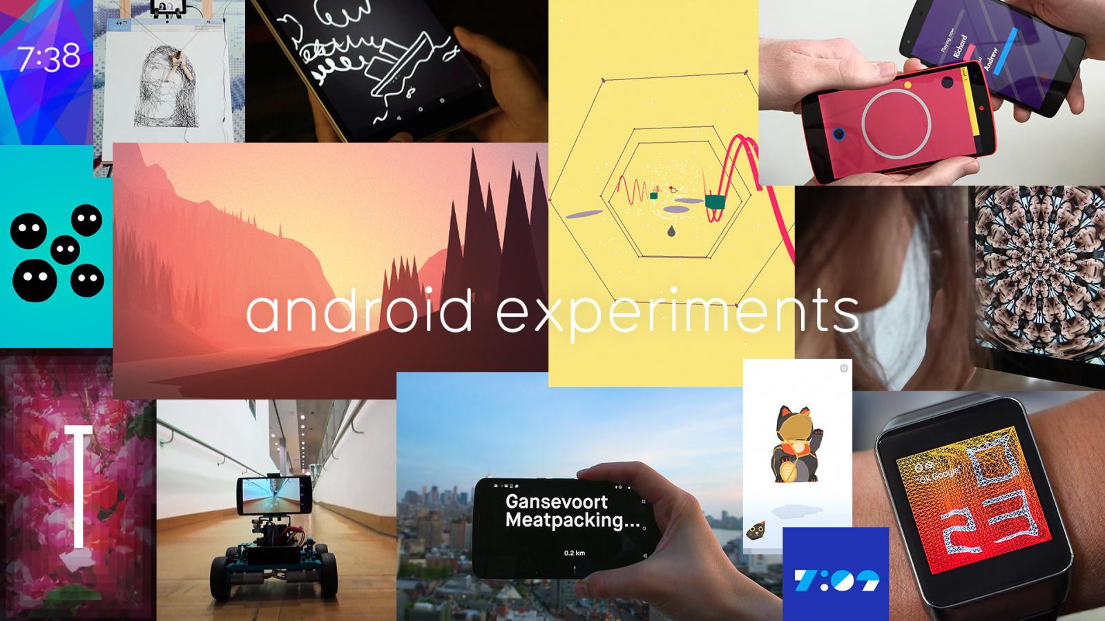 グーグルによるAndroid Experimentsはプログラマーの新しい遊び場