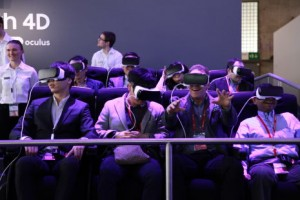 Samsung's 4D VR roller coaster at Mobile World Congress.