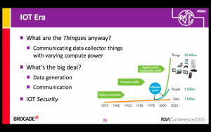 At the RSA Conference this year, Nahari asked is IoT will overwhelm security